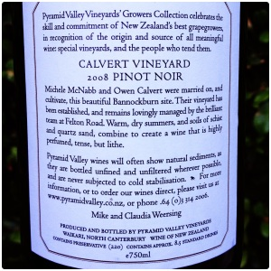 Pyramid Valley Calvert Vineyard Pinot Noir 2