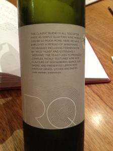 "Marq ""Wild & Worked"" Sauvignon Blanc Semillon 2"