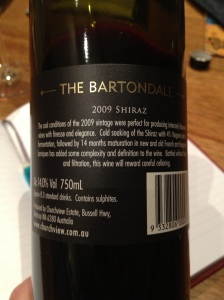 "Churchview Estate ""The Bartondale"" Shiraz 2"