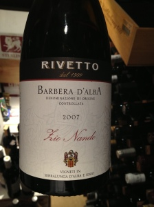 "Rivetto ""Zio Nando"", Barbera D'Alba 1"