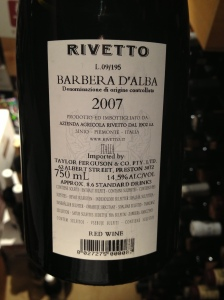"Rivetto ""Zio Nando"", Barbera D'Alba 2"