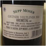 Sepp Moser Gruner Veltliner von den Terrassen 2