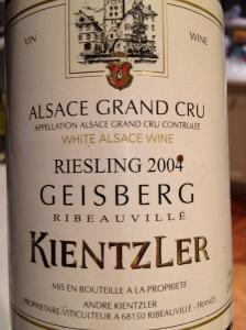 Kientzler Geisberg Ribeauville Riesling
