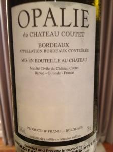 Opalie de Chateau Coutet 2