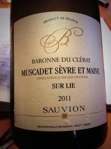 Sauvion Baronne du Cleray Sur Lie Muscadet