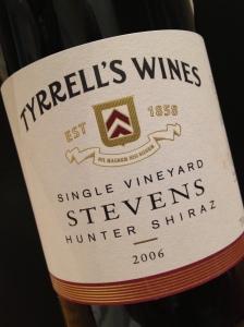 Tyrrell's Stevens Shiraz