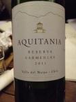 Aquitania Reserva Carmenere 1
