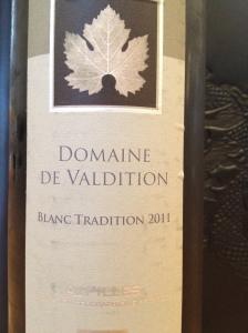 Domaine de Valdition Blanc Tradition 1