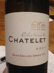 Le Chatelet. Saint Emilion Grand Cru
