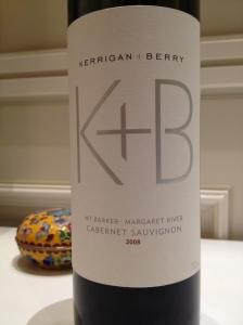 2008 Kerrigan + Berry Cabernet Sauvignon