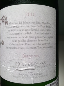 """Domaine Mouthes Le Bihan """"Vieillefont"""" Blanc 3"""