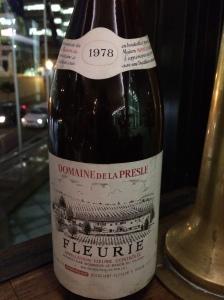 1978 Domaine de la Presle. Fleurie, France