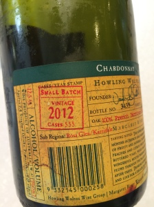 Howling Wolves Small Batch Chardonnay, Batch 90 2